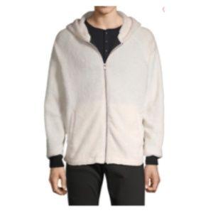 Raglan-Sleeve Faux Shearling Jacket XL
